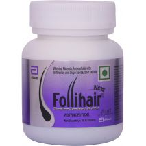 New Follihair 30 Tablets Pack For Hair Growth with Biotin, Vitamins, Minerals, Amino Acids