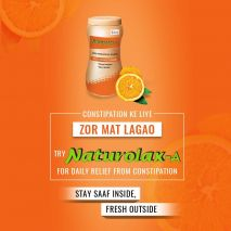 Naturolax-A Isabgol Husk Powder Orange Flavour, 300 g For Constipation