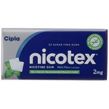 Nicotex 2mg Mint Tin Box Pack of 25 Sugar Free Gums