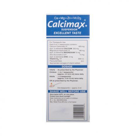 Calcimax+ Plus Suspension 200 ml