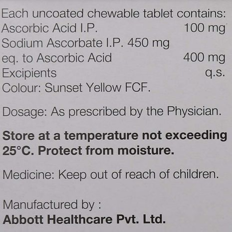 Limcee Vitamin C 500 mg Chewable Tablets 15s