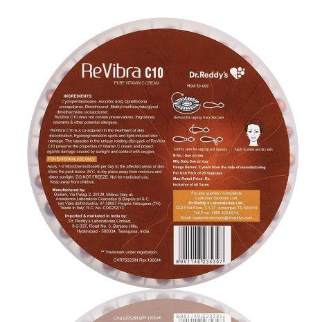 Revibra C10 Pure Bioactive Vitamin C Cream 28 Vegicaps
