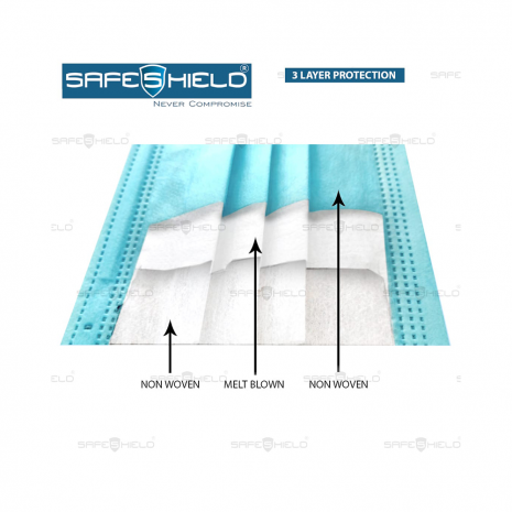 Safeshield 3 Layer Face Mask