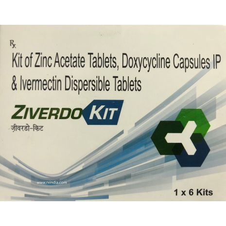 Ziverdo Kit Zinc Doxycycline Ivermectin