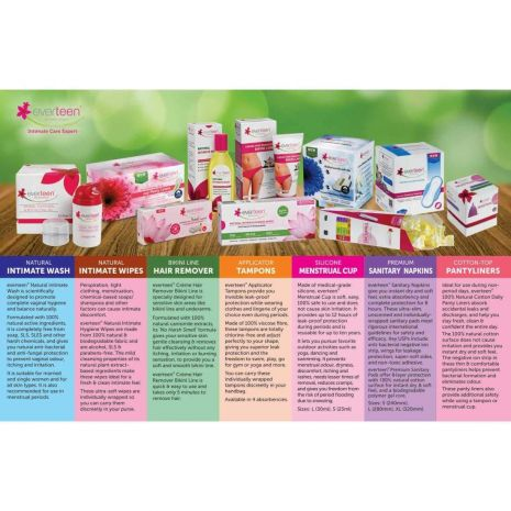 everteen Natural Intimate Hygiene Wipes for Women