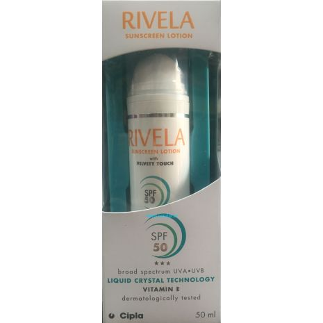 Rivela SPF 50 Sunscreen Lotion 50ml