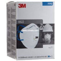 3M 8822 Disposable Respirator, FFP2 Valved Mask