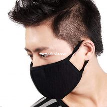 Black Reusable Washable Anti-Pollution Anti-Bacterial 3 Layer Cotton Face Mask