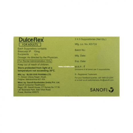 Dulcoflex 10mg Suppository for Adults