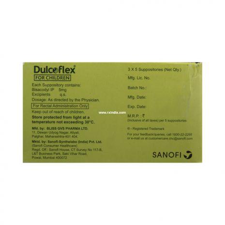 Dulcoflex 5mg Suppository for Children